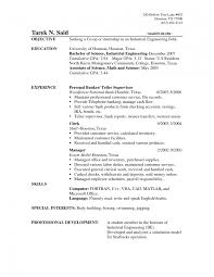 Sample Resume Objectives For Finance Jobs by Teller Resume Sample Bank Example Objectives Career Objective