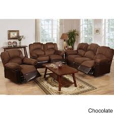 Overstock Living Room Sets Arles 3 Pieces Motion Recliner Living Room Set Free Shipping