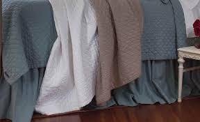 Blue Quilted Coverlet Lili Alessandra Emily 100 Linen Diamond Quilted Coverlet U0026 Pillows