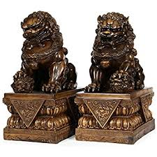 foo dog bookends temple lions foo dogs asian feng shui