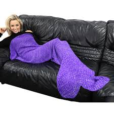 purple knitting pattern mermaid tail blanket twist yarn mermaid