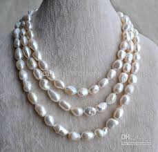 freshwater pearls necklace images 2018 baroque pearl necklace pearl jewelry 55 inches aa 11 14mm jpg