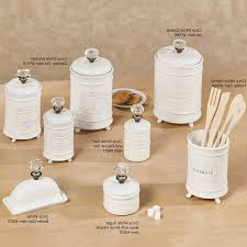 Kitchen Canisters Ceramic Sets New White Ceramic Kitchen Canister Sets Taste