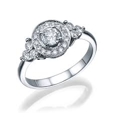 vintage halo engagement rings vintage halo engagement ring 14k white gold 1 13 ct t w