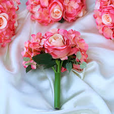 silk roses silk roses and hydrangea flowers bouquets wedding centerpieces