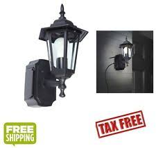 Sconce With Outlet Outdoor Black Wall Light Fixture Patio Porch Exterior Sconce