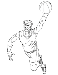 cool basketball player slam dunk coloring u0026 coloring pages