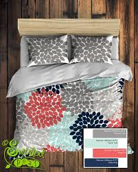 Coral Colored Comforters Floral Bedding Comforter Or Duvet Best Selling Navy Coral Light