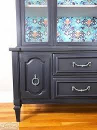 how to make your painted china cabinet amazing with decoupage
