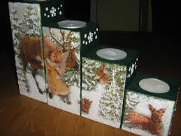 decoupage christmas candle holder my diy stuff pinterest