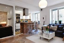 small open kitchen and living room