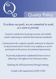 Iso 9001 Quality Policy Statement Exle by Quality Policy Statement Best Template Collection