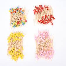 online shop 100pcs lot heart craft fruit toothpick interesting