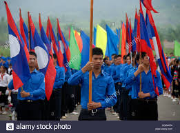 Festival Of Flags Festival Young Men Of The Youth Group Lao Youth Laotian National
