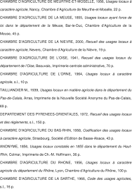 chambre d agriculture de la nievre liste des recueils des usages locaux à caractère agricole consultés