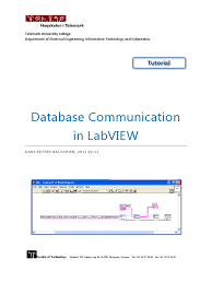 database communication in labview microsoft access sql