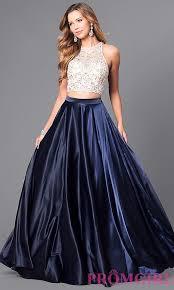 jeweled bodice satin two prom dress promgirl