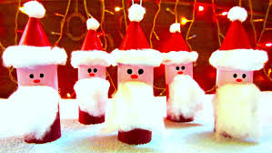 toilet paper roll santa claus ornaments how to make christmas