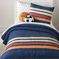blue and orange bedding childrens bedding crate and barrel