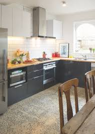 cool l shaped kitchen decorating ideas with wooden chairs and