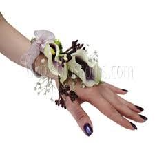 corsage flowers purple wrist corsage flower