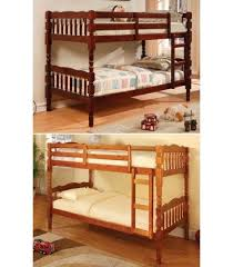 Modern Furniture Brooklyn NY TwinTwin Bunk Bed In Cherry - Bedroom furniture brooklyn ny