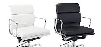 sleek lexington modern mid back leather office chair next luxury