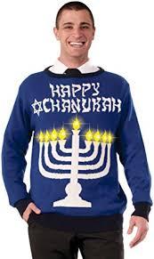 Amazon Com Forum Novelties Men S Lite Up Menorah Chanukah Sweater