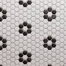 bathroom floor glazed porcelain 3 4 inch hexagon white with