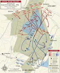 Map Of United States During Civil War by Gettysburg East Cavalry Field Civil War Trust
