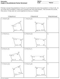 angles in quadrilaterals worksheet answer key angles