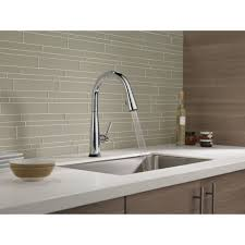 delta touch20 kitchen faucet delta faucet 9113t dst essa polished chrome pullout spray kitchen