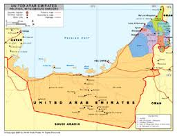 map of the uae political map of united arab emirates with provincial state
