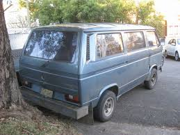 old blue volkswagen aussie old parked cars 1989 volkswagen transporter