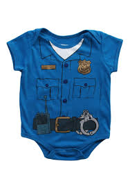 toddler cop uniform onesie t shirt halloween costumes