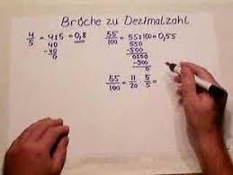 wie rechnet brüche in dezimalzahlen um bruch zu dezimalzahl teil 1
