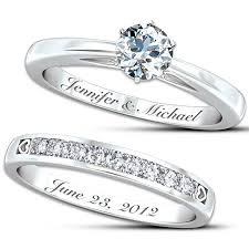 personalized wedding bands diamante wedding rings spininc rings