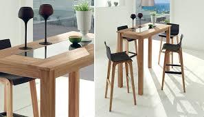 tables hautes cuisine table de cuisine haute en bois idée de modèle de cuisine