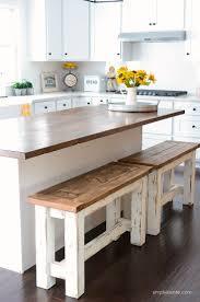 mahogany wood black madison door kitchen island with bench seating