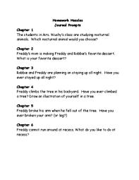 Homework Hassles comprehension Questions Teacher s Notebook