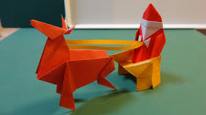 How To Make A Origami Santa - origami how to make an origami reindeer