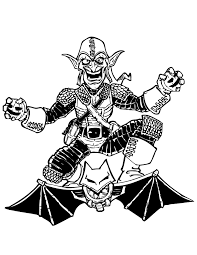 spider man green goblin enemy coloring u0026 coloring pages