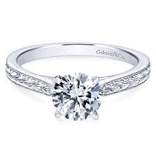 solitare ring vintage solitaire engagement rings gabriel co