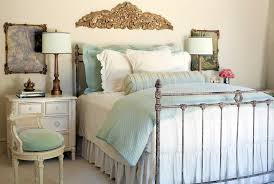 Bed Frame Skirt Coral And Aqua Bedding Look Rock Shabby Chic Bedroom