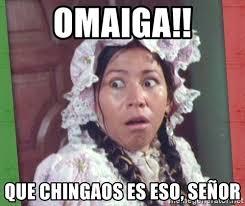 Omaiga Meme - omaiga que chingaos es eso señor la india maria suprised meme
