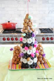 stay at home ista donut hole tower and a 6 year old birthday party