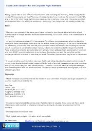 cover letter sample for flight attendant position guamreview com