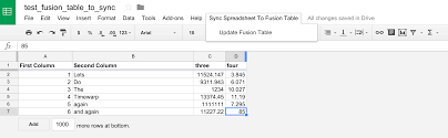 Google Spreadsheets Help Spreadsheet To Fusion Tables Github