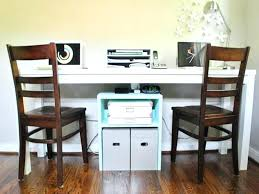 Home Office With Two Desks Home Office Ideas For Two Dual Desks Home Office Dual Office Desk