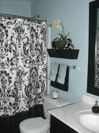 Navy And White Striped Shower Curtain Teal And Black Shower Curtain Love The Black White And Teal